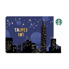 NEW 2019 STARBUCKS TAIWAN COFFEE GIFT CARD TAIPEI 101 #5 NIGHT LIGHT VERSION#272
