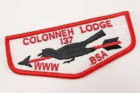 Vintage BSA Colonneh Lodge 137 OA Order Arrow WWW Boy Scouts America Flap Patch