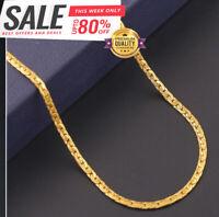 18k Goldkette 50cm Pankerkette 4MM vergoldet Geschenk Damen Herren Halskette GK9