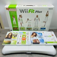 Nintendo Wii Balance Board And 4 WII FIT GAMES SEE PICS