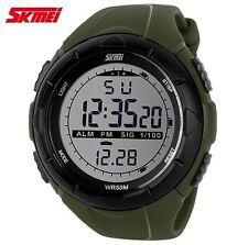 Reloj De Pulsera Digital Deportivo Verde Hombre Militar Watch Men Military