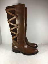FRYE Women's Jordan Strappy Boots Size 6 Brown Leather 3476085 NWOB High Boots
