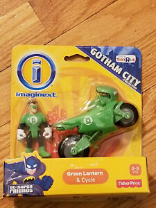 Imaginext - Green Lantern and Cycle  - DC Super Friends  - NEW