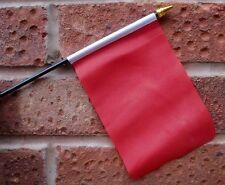 PLAIN RED flag PACK OF TEN SMALL HAND WAVING FLAGS start race