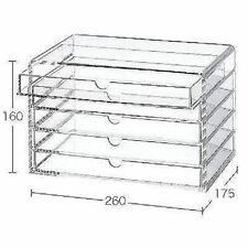 New Muji Large Acrylic case 5 Multipurpose drawer Organizer Box Japan