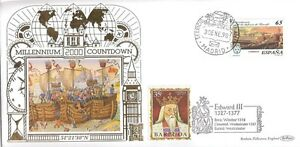 (80605) Spain Benham Cover 22 Ct Gold LIMITED EDITION Millennium Countdown 1998