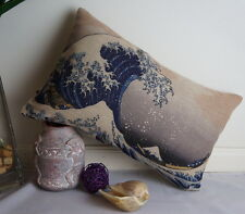 Cotton Linen Cushion Cover Japanese Hokusai The Great Wave off Kanagawa