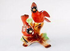 Vintage Porcelain Salt & Pepper Shaker Ensemble ~ Cardinals by Dan Brechner & Co