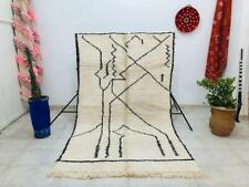 Vintage Berber Authentic Beni Ourain Moroccan Rug 100% wool 4.8 ft x 8.3 ft