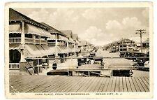 Ocean City NJ - PARK PLACE FROM BOARDWALK - Postcard