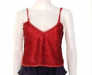 Victorias Secret Red Lace Camisole