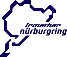Corte De Vinilo Logo Nurburgring Irmscher calcomanías decorativas x128mm 150-entrega UK LIBRE