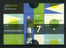 Nederland 2010 2717 Blok vuurtoren aangetekend tarief 2010 -Lighthouse