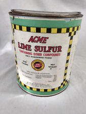 Vintage Advertising Can Tin Acme Paints Lime Sulfur 5 Pound Antique Paper Label