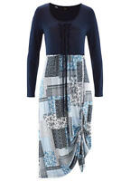 New Bonprix Navy Print Jersey Day Dress Size 10/12 BNWT