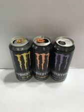 Monster Energy Drink 16oz Cans. Mixxd,Khaos & M-80 *EMPTY* Rare Cans