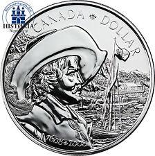 Canada 1 dollars argent 2008 stgl. 400 ans ville du québec: samuel de champlain
