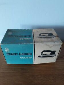 Vintage Retro Morphy Richards Senior Dry Iron In Original Box