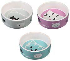 Mimi Cat Bowl Ceramic Food Water Feeding Dish 0.3L