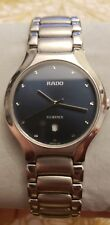 "Mens RADO ""FLORENCE"" 129.3755.4 Sapphire Crystal Navy Dial Swiss Quartz Watch"