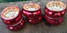 12 X Antique Pumpkin Mercury Glass Votives Tea Light Holders HALLOWEEN/CHRISTMAS