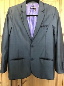 ted baker boys Wool Blend Fromal Grey Jacket Age 13 Worn Once