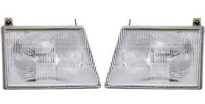 Headlight Assembly Left & Right REPLACES FORD OEM# F8UZ13008AA Halogen