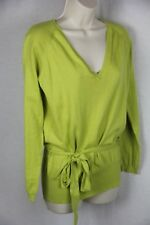 Travel Coat Citron  cotton/cashmere top  V neck long sleeve belt  NWT  2 (M)