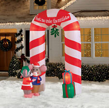 9' Mistletoe Archway Christmas Airblown Inflatable - Holiday Yard Decor Gemmy
