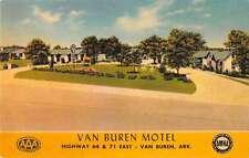van buren motel arkansas L4443 antique postcard