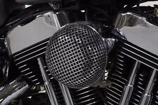 "CHROME MESH 5.5"" ROUND AIR CLEANER ASSEMBLY FOR HARLEY SPORTSTER 1991-06 CV CARB"