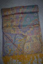 Jacquard Throw or Bedspread. Wool & Silk.Jamavar. Paisley, Jamawar ST103
