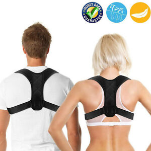 Adjustable Back Posture Corrector Clavicle Spine Shoulder Lumbar Brace Support