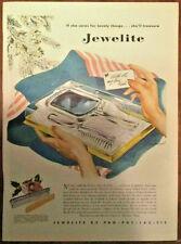 Jewelite ad 1946 original vintage 1940s print illustrated Christmas Carl Broemel