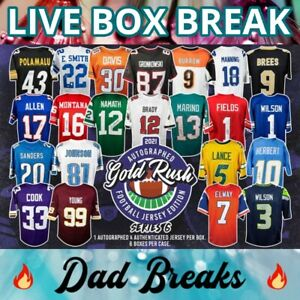 TAMPA BAY BUCCANEERS Gold Rush autographed/signed football jersey LIVE BOX BREAK