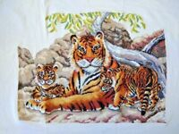 "New completed finished cross stitch ""Tiger's Family""home decor gifts"