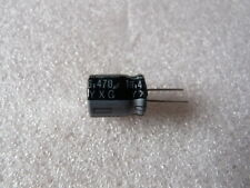 5 condensateurs 470uF 16V 105°C Rubycon YXG