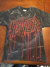 Extremely Rare Double Sided small venue slayer concert T-shirt Small