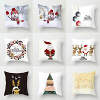 "18x18"" Christmas Pillow Case Sofa Car Throw Cushion Covers Home Decor Creative"