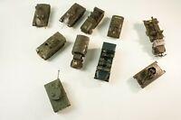 10x Militärfahrzeug Panzer Transporter diverse Firmen Siku Wikung etc...  W-2518
