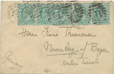 "2468 ""EARLS.COURT / S.W / 34 / 4"" LONDON 1903 1/2d extremely rare multifranking,"