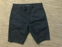Theory Adult Mens 29 Chino Shorts Navy Blue Russell S/Hoover