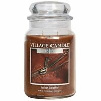 Village Candle Italian Leather 26oz Large Jar