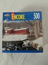 Puzzle Winter Barn Scene Encore 500 Piece Jigsaw New Sealed