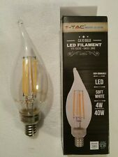 Tac Vintage Style 40W Soft White DIM-CA10 LED Non-Dimmable Light Bulb (6-Pack)