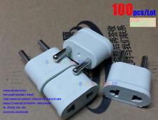 100Pcs/Lot Adapter Charger US USA to EU EURO Europe Travel Power Plug Pin4.8mm
