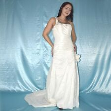 1 Tirantes En Satén Vestido de Novia S Estilo Campana Baile Maxi