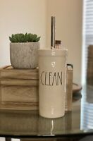 """New RAE DUNN Artisan Collection LL """"CLEAN"""" Toilet Brush By Magenta"""