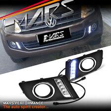 MARS Bumper Bar LED DRL Day-Time Fog Lights Cover for Volkswagen VW Amarok 11-17