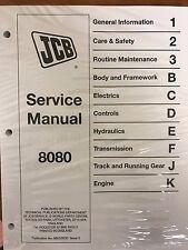 JCB 8080 Mini Excavator Service Repair Manual Shop